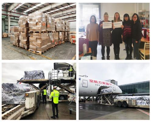 """珀莱雅捐赠9万只超N95欧标口罩,从欧洲""""飞奔""""至湖北医护一线!"""