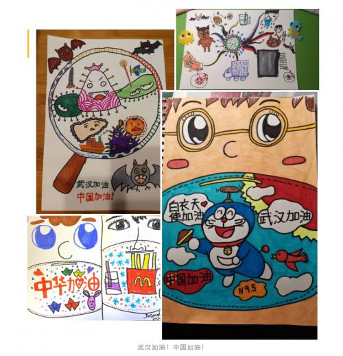 在美术宝少儿公益课,每天超过3500+孩子的画作为
