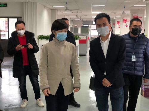 新春复工第一天丨缙云县领导走访顺联动力,调研疫情防控保障工作