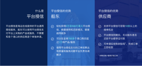 海运在线创新供应链融资 为船东全球采购提供免费账期支持