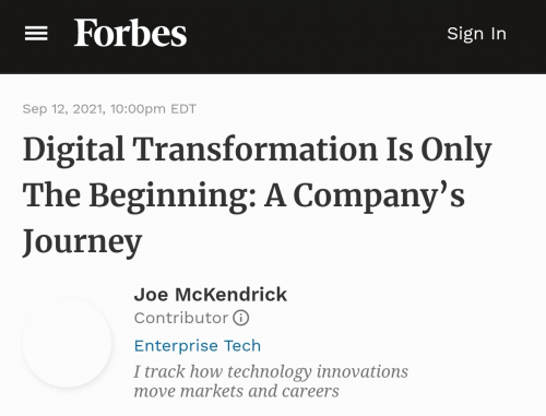 《福布斯》深访菲斯曼:数字化转型仅是开始,一个企业的旅程