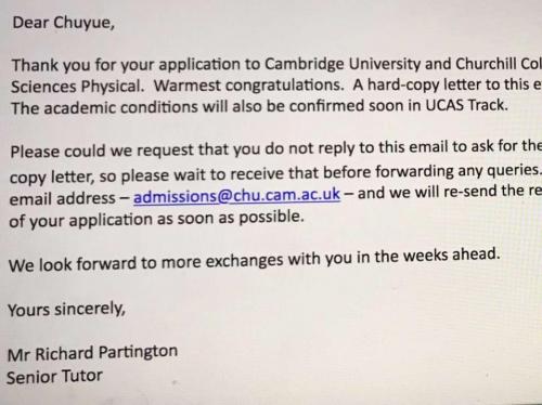 喜报_ _这一次,博实乐收获两枚剑桥大学OFFER!
