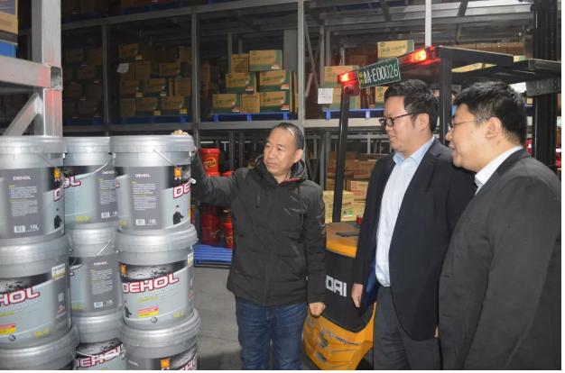 韩国SK基础油资深代理商来帝航参观洽谈