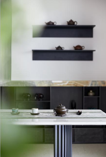 鸿艺源设计案例之华润悦府私宅餐厅&茶室实景