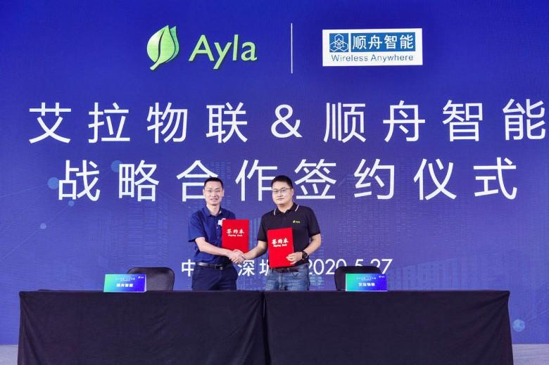 Ayla艾拉物联与顺舟智能签署战略协议,双方将在生态产品和业务层面展开合作